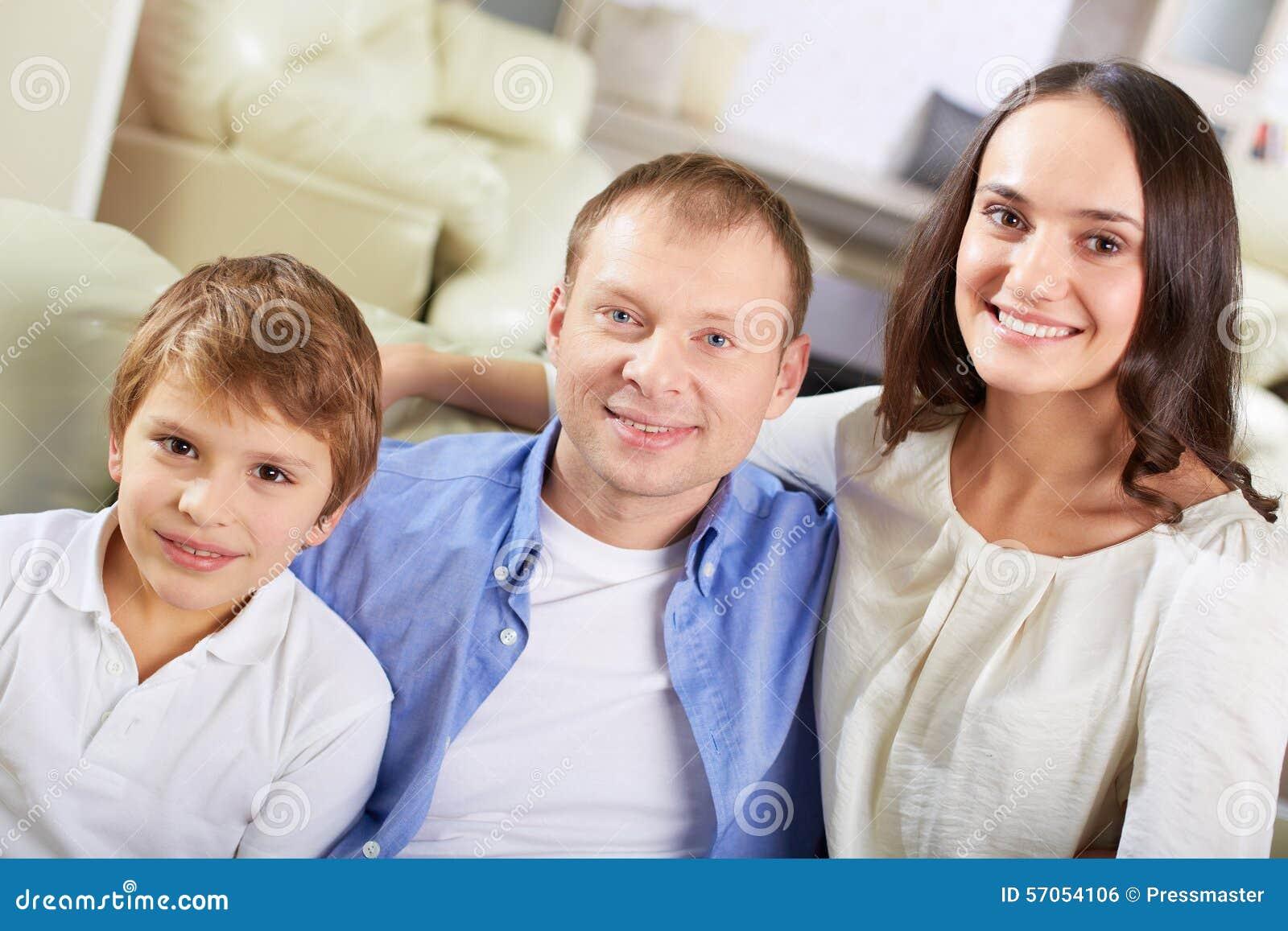 Familie van drie