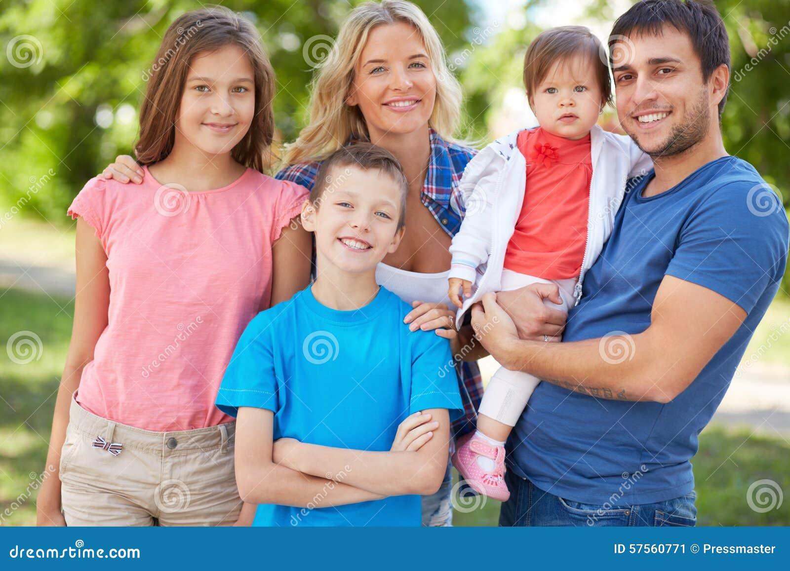 Familie von fünf