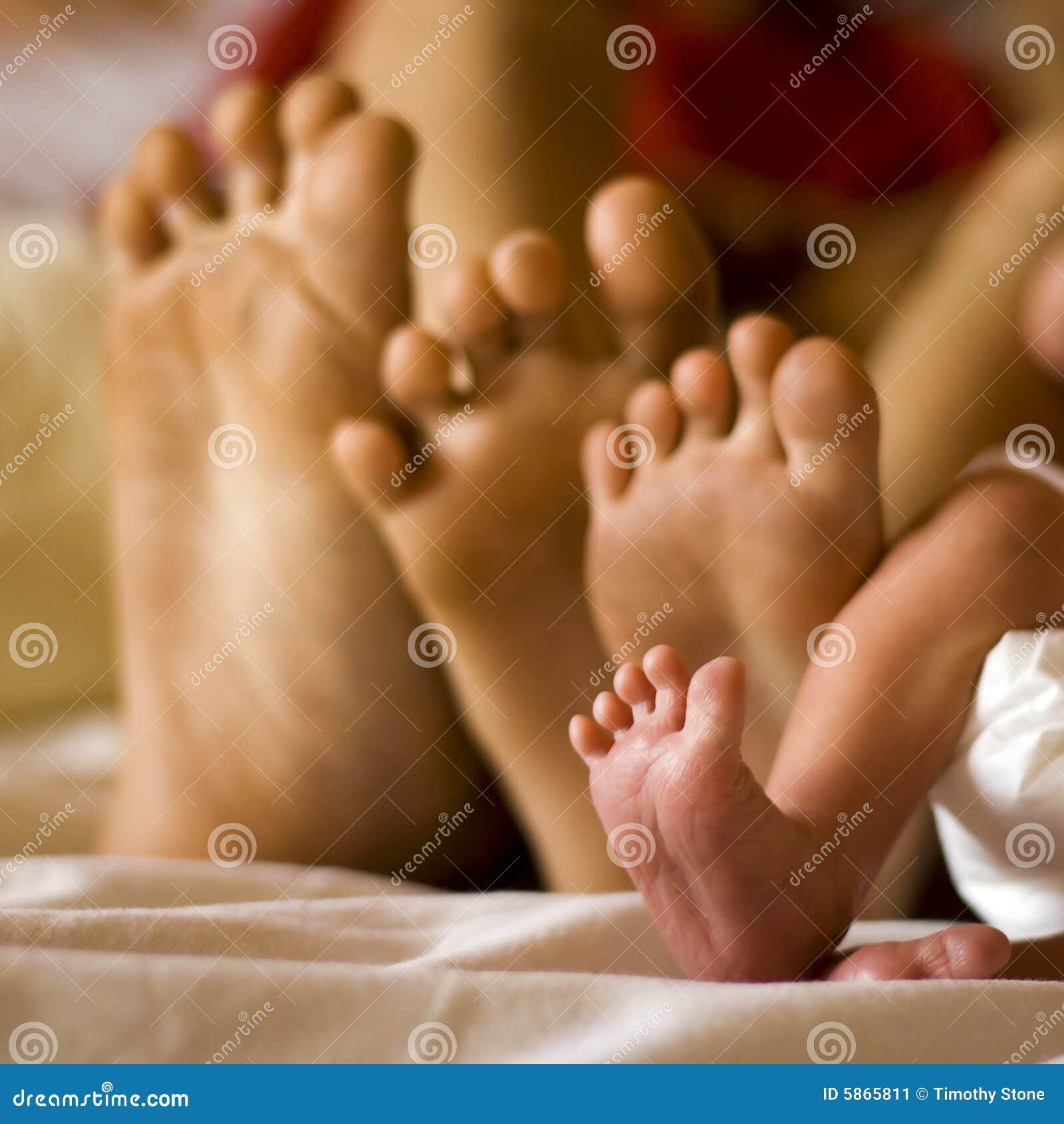 Familien-Füße