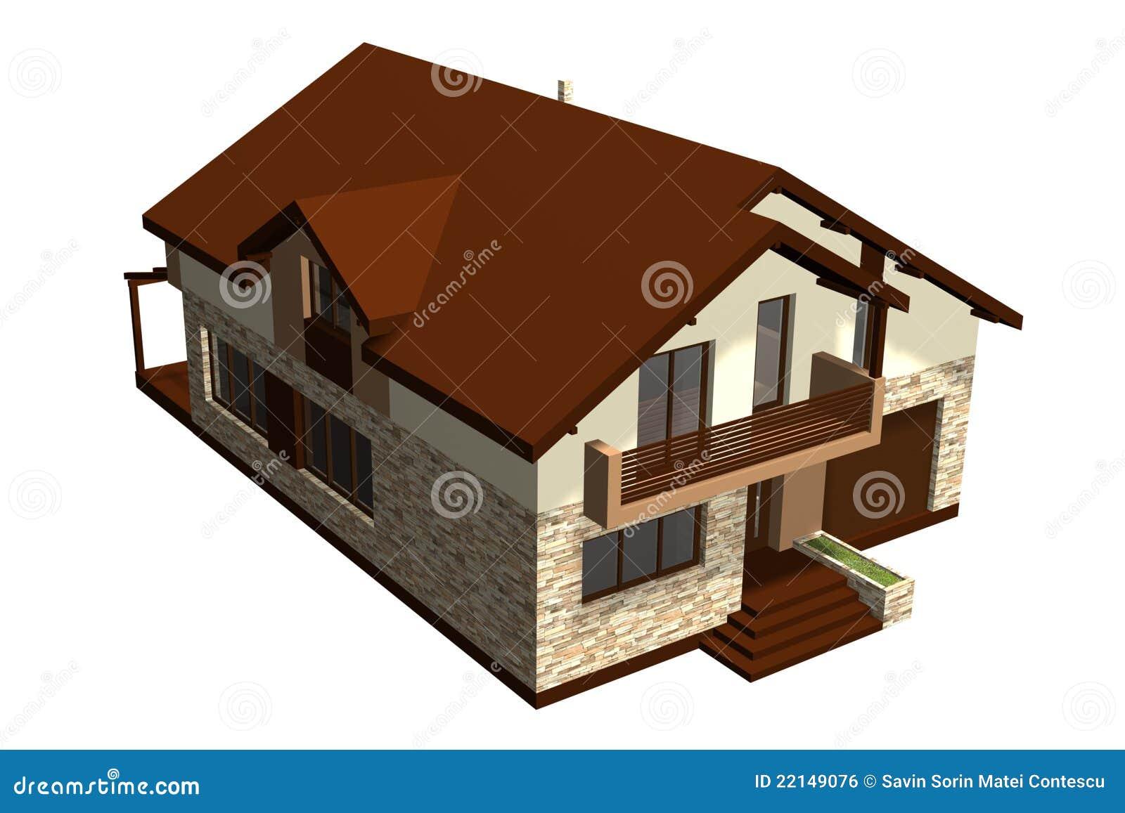Cosy familienhaus 3d übertragen
