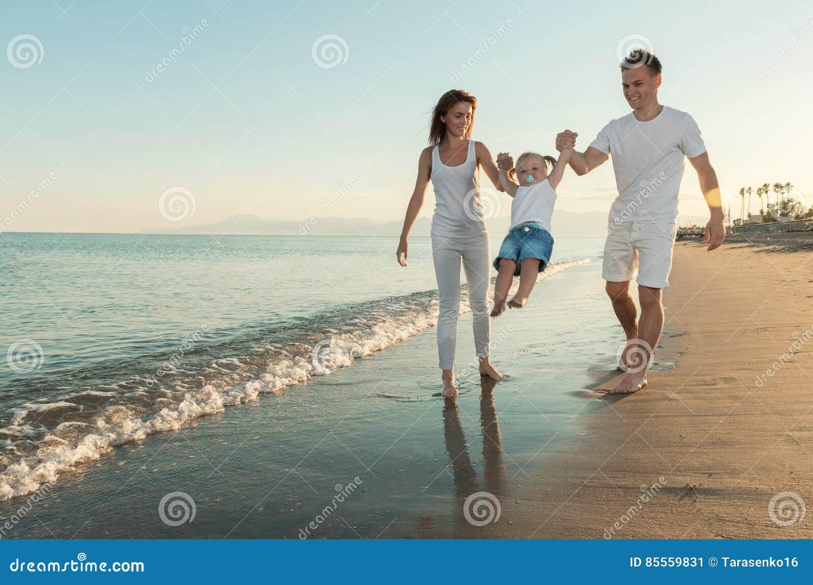 Familien-Spaß auf dem Strand