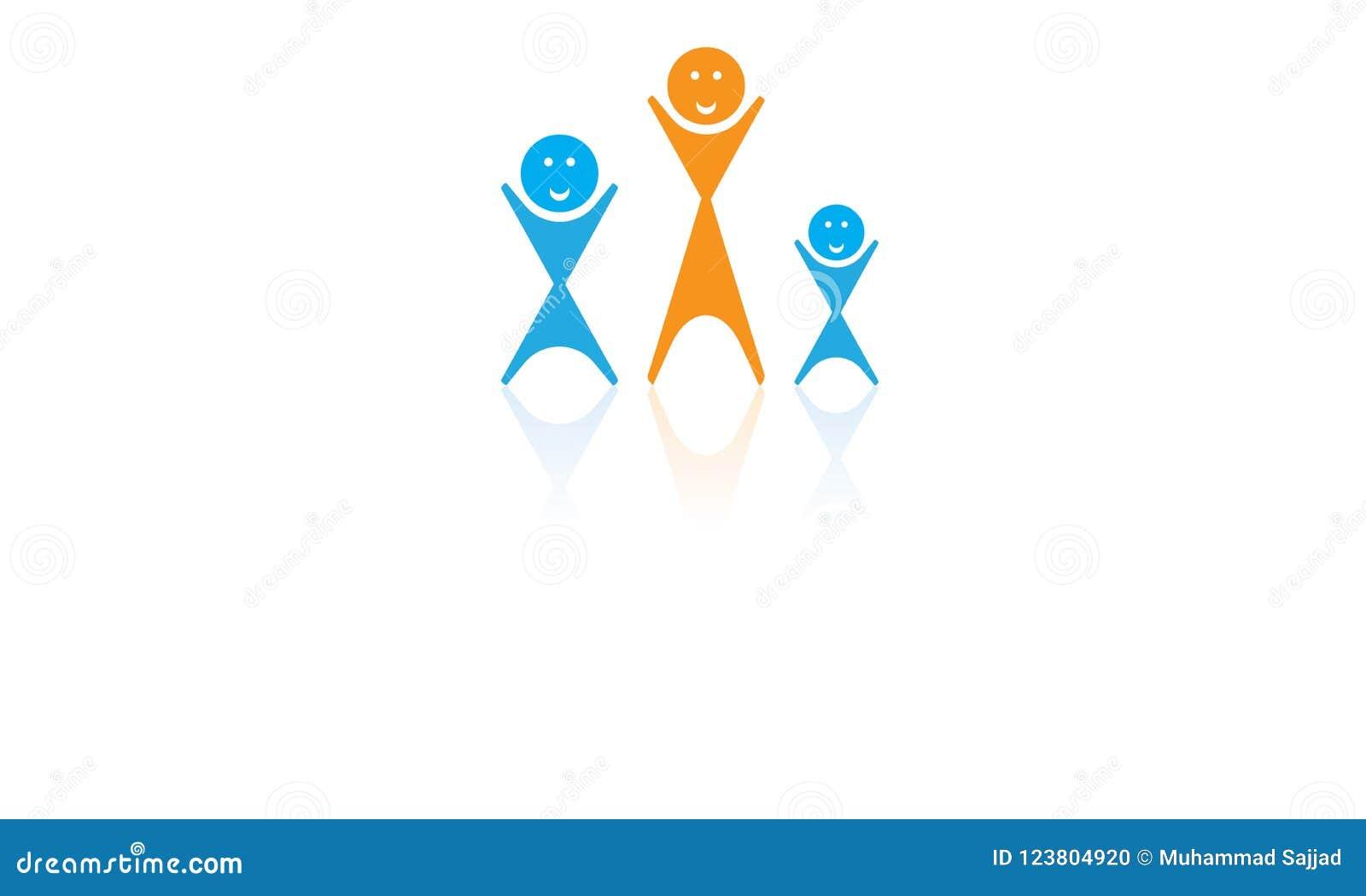 Familien-Verbands-Logo - Familien-Leute-Baum-Logo - Verbands-glückliche Familie Logo Template