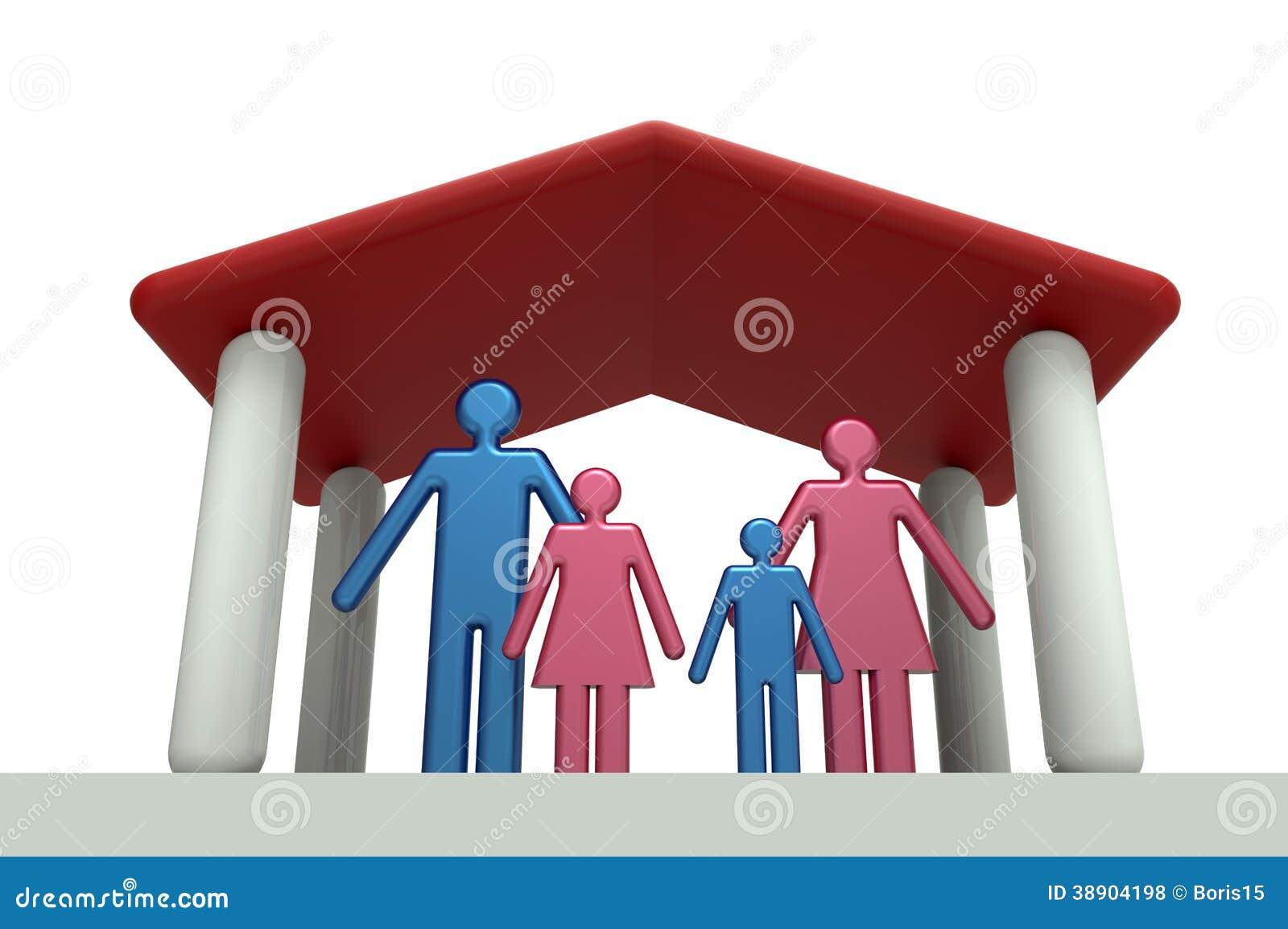 Familienhaus stock abbildung bild 38904198 for Familienhaus