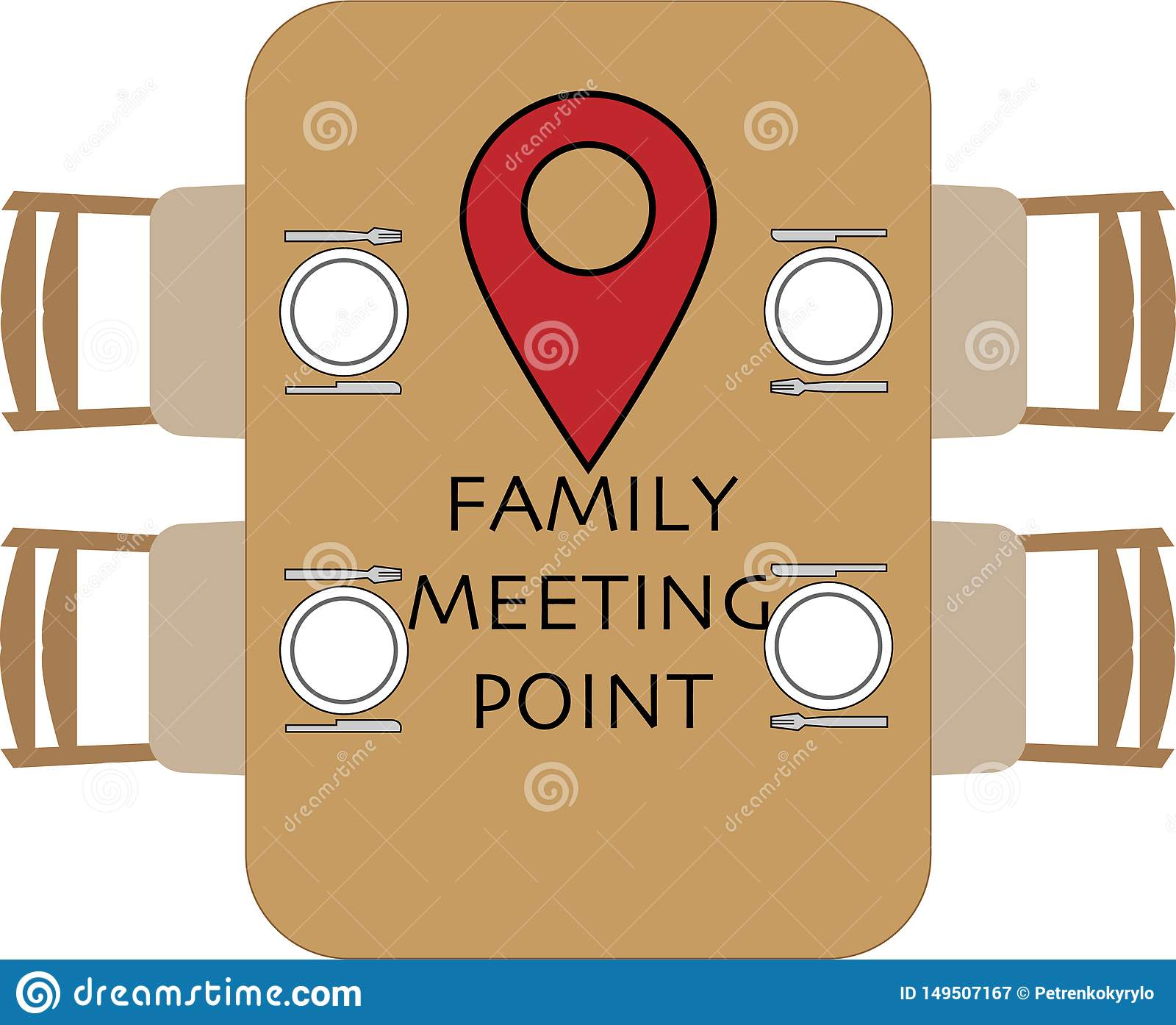 Familientreffpunkt am Rundtisch