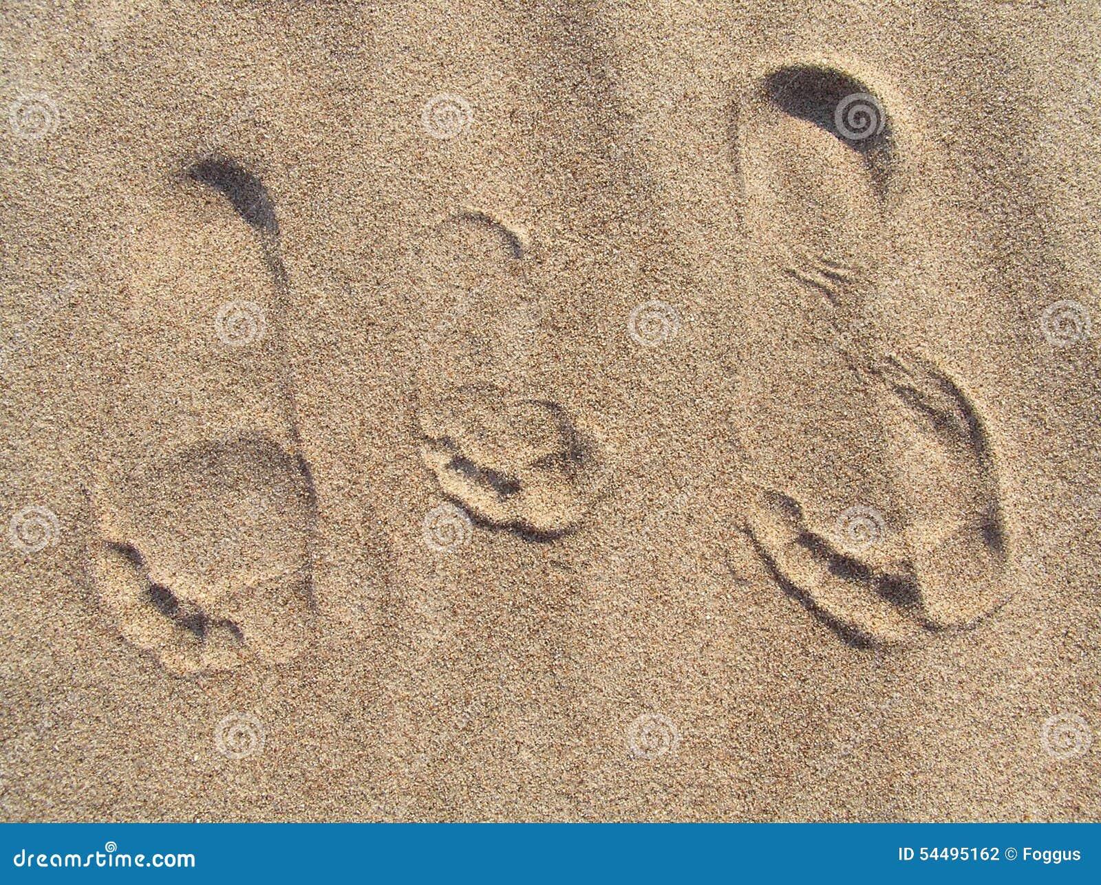 Familieportret in het zand