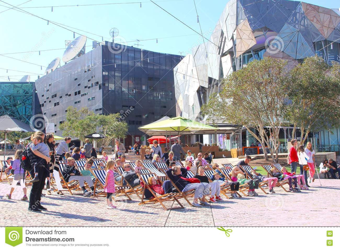 Download Families Beach Chairs Federation Square Melbourne Editorial Image - Image of mothers & Families Beach Chairs Federation Square Melbourne Editorial Image ...