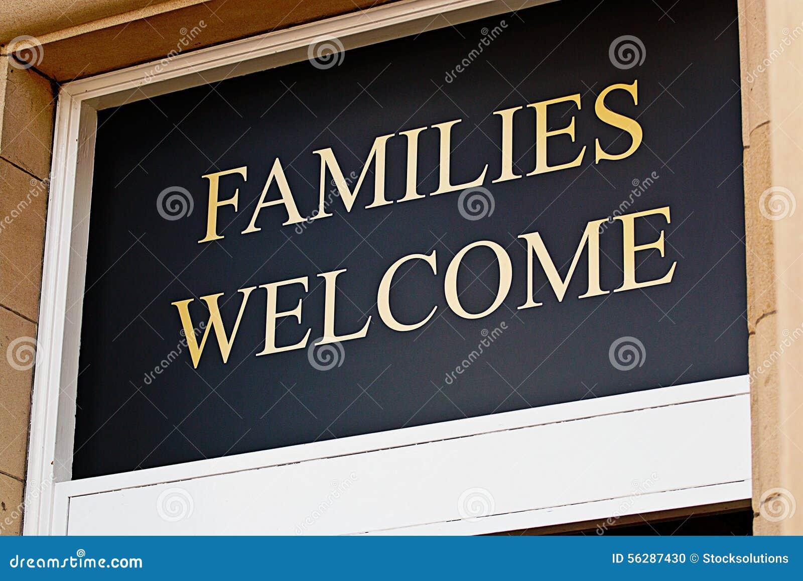 Families welkom teken