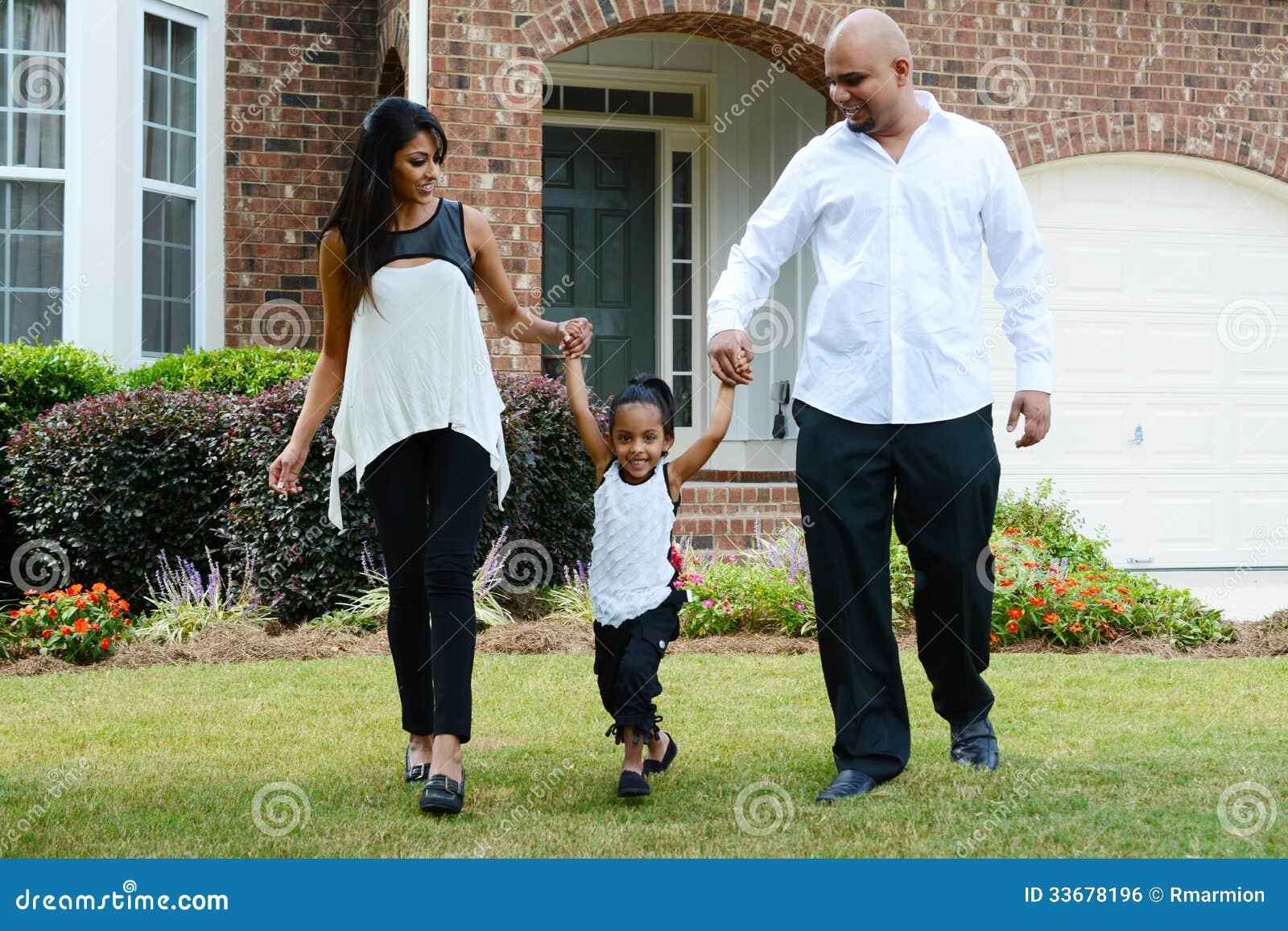 Familj tillsammans