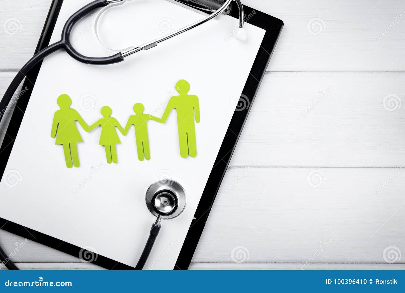 Familjhälsa och livförsäkringbegrepp