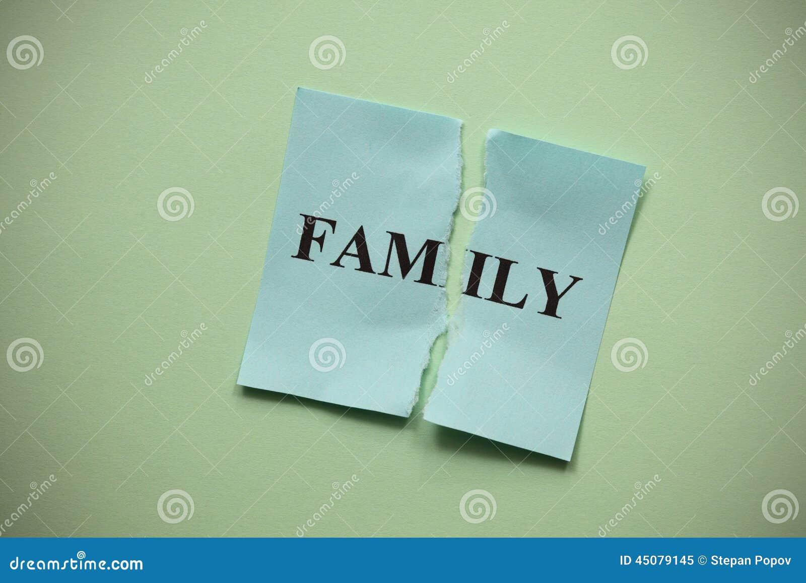 Familjsammanbrott