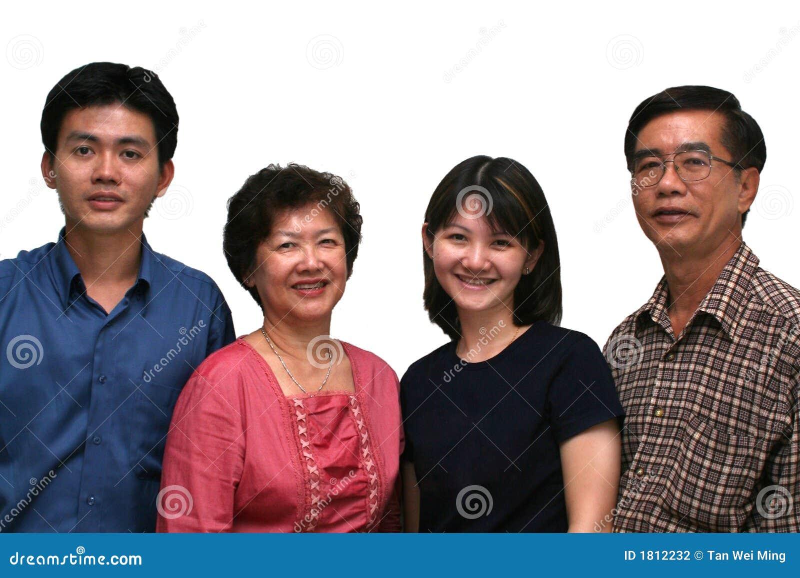 Famille asiatique heureuse