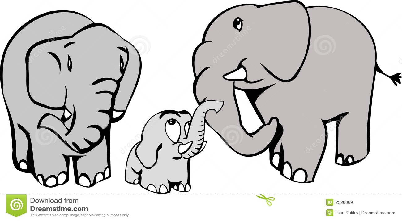 Coloriage Famille Elephant.Famille D Elephant Illustration De Vecteur Illustration Du