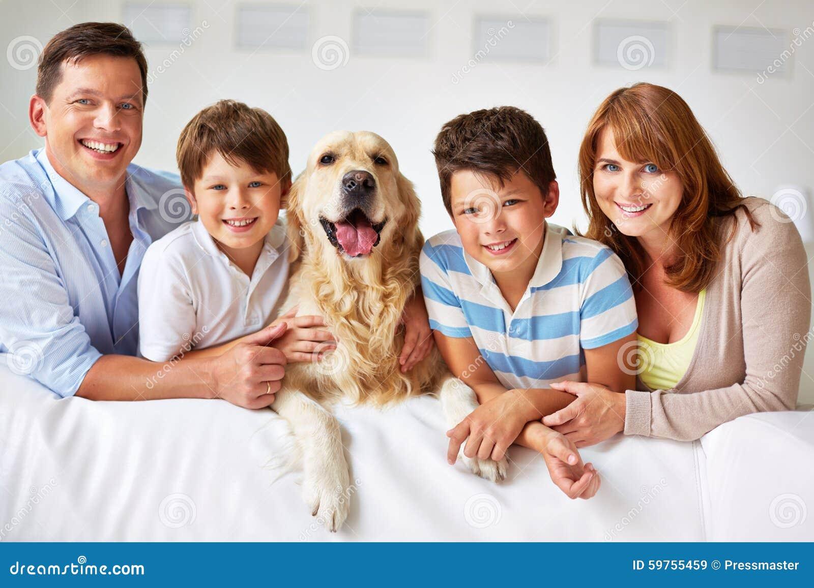 Famille de cinq