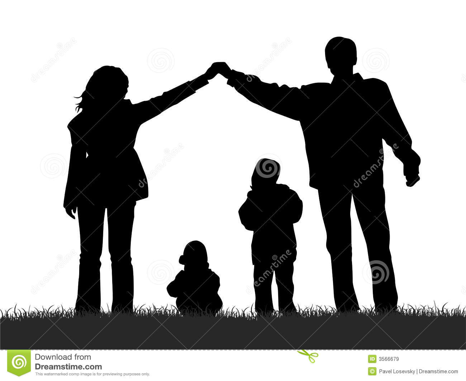 Famille de silhouette