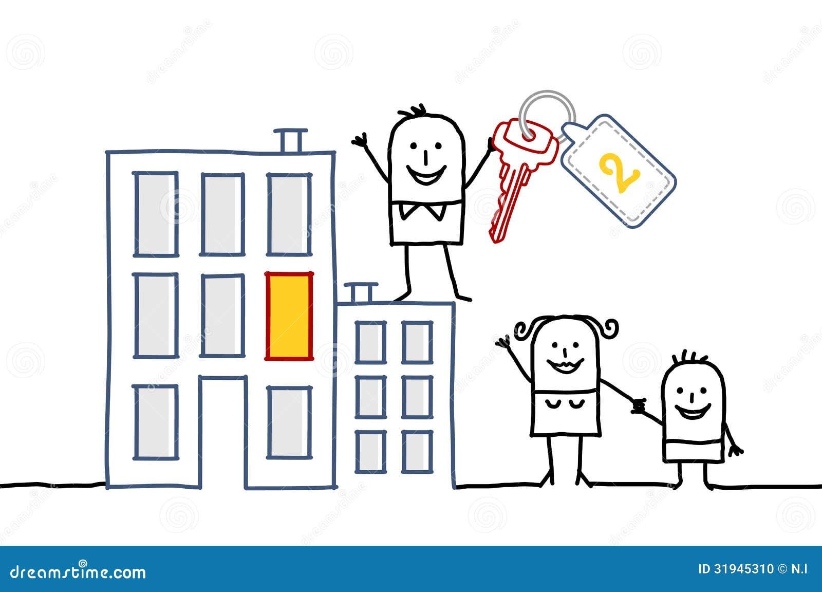 famille et nouvelle maison illustration de vecteur image du cartoon 31945310. Black Bedroom Furniture Sets. Home Design Ideas