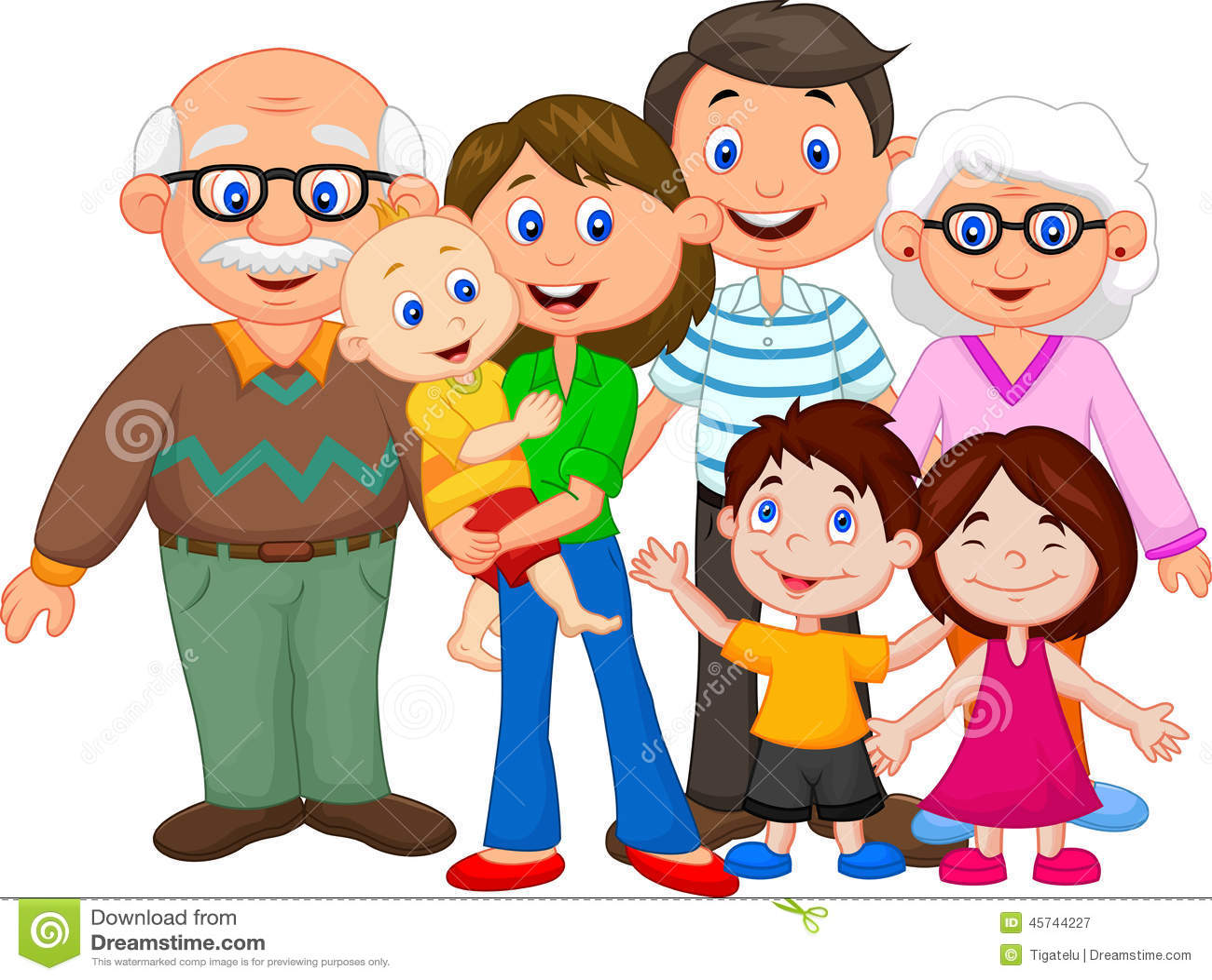 Famille heureuse de dessin anim illustration de vecteur - Dessin anime de la famille pirate ...