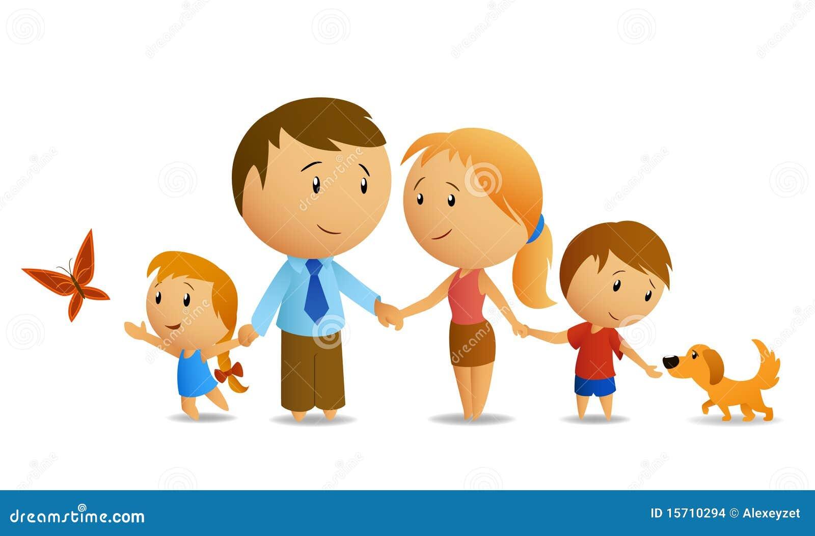 Famille Heureux Illustration De Vecteur. Illustration Du