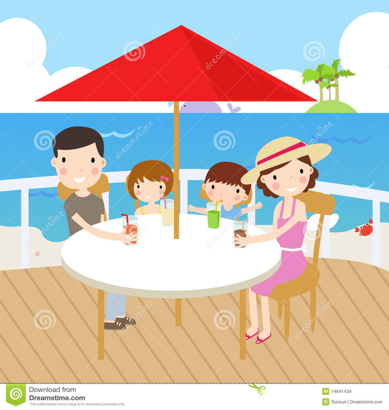 Familly Holiday Stock Images - Image: 14641434