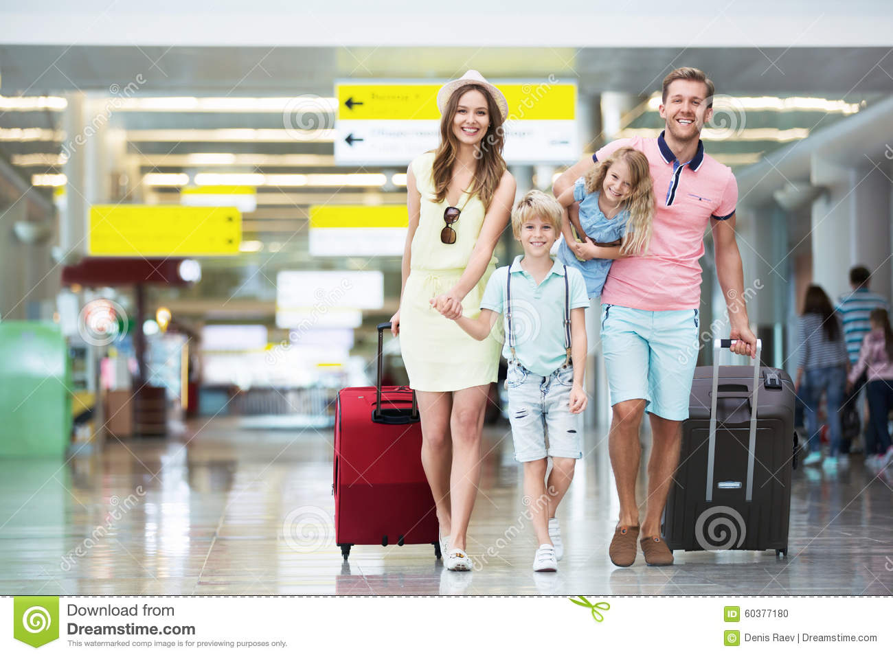 Family in the airport