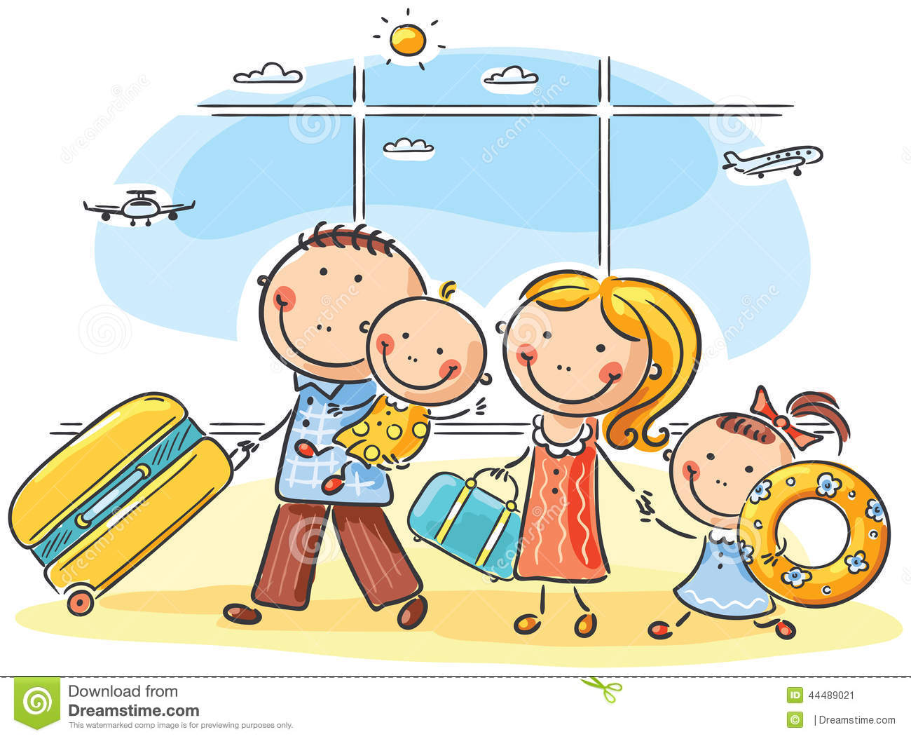 Family Airport Stock Illustrations 1025 Vectors Clipart
