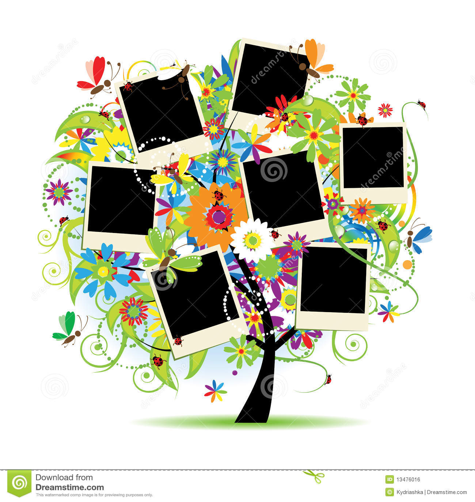 Family album. Floral tree
