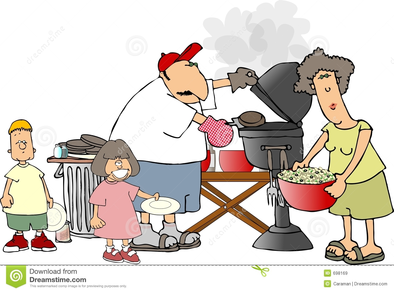 Showing post & media for Family bbq cartoons | www.cartoonsmix.com