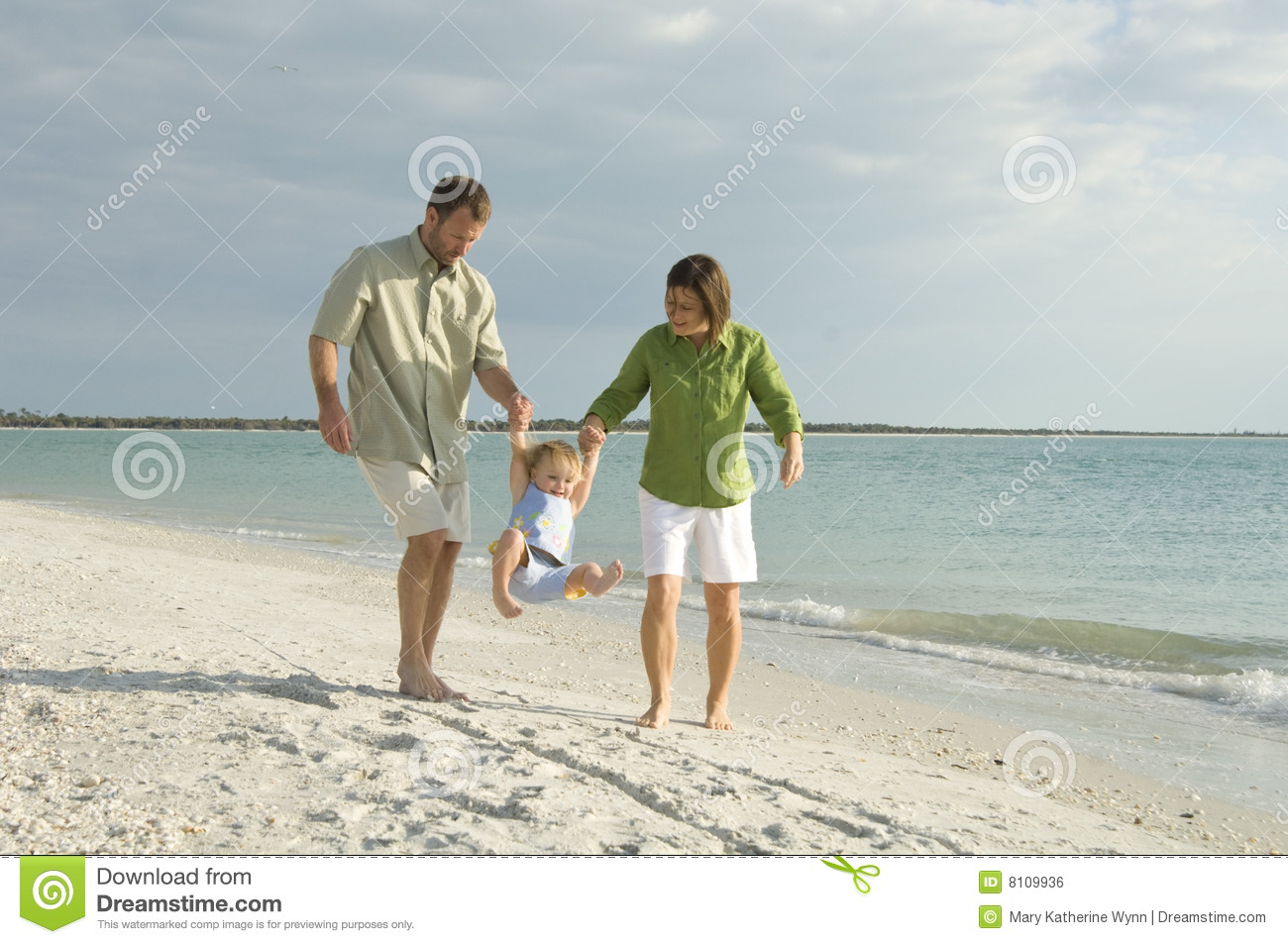 Family at beach
