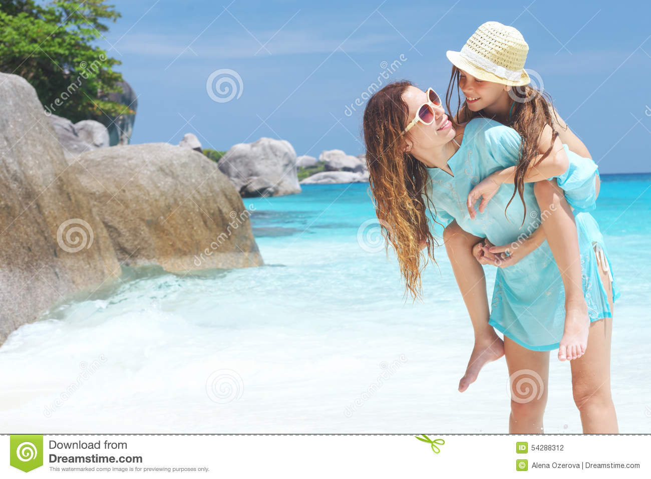 Family on a beach stock photo image 54288312 for Mother daughter vacation destinations