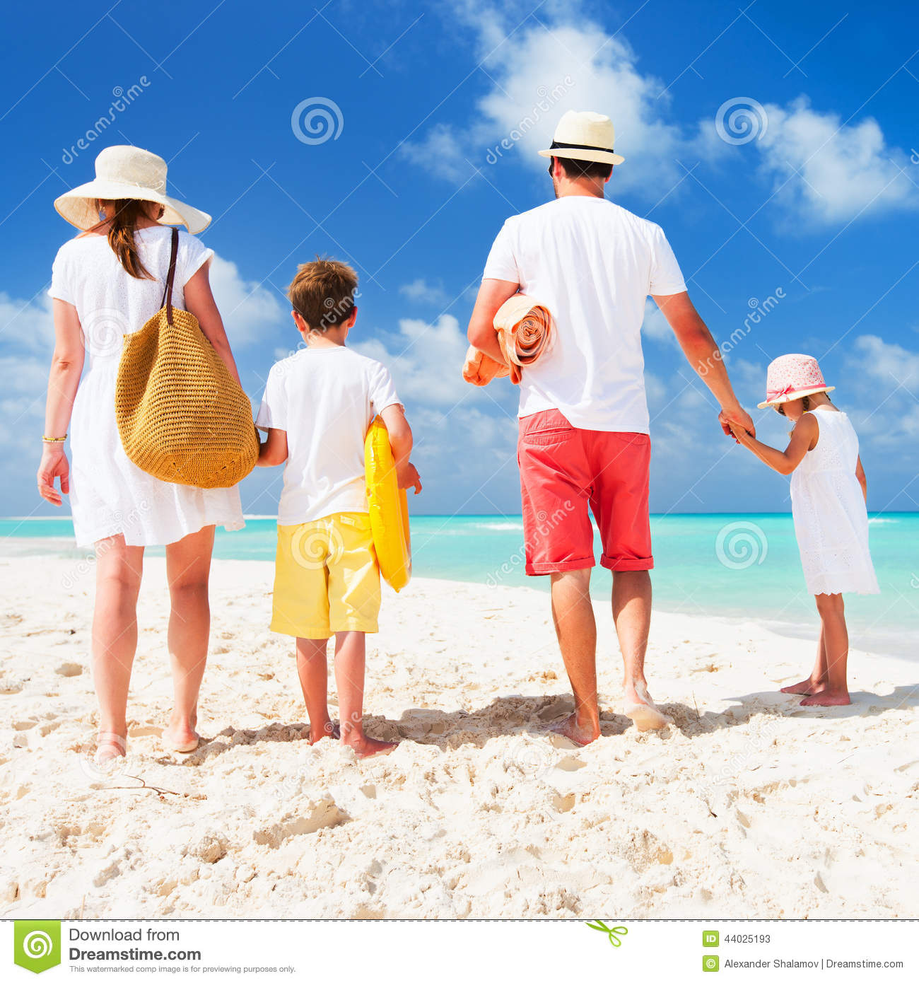 Family Beach Vacation Stock Image. Image Of Sister