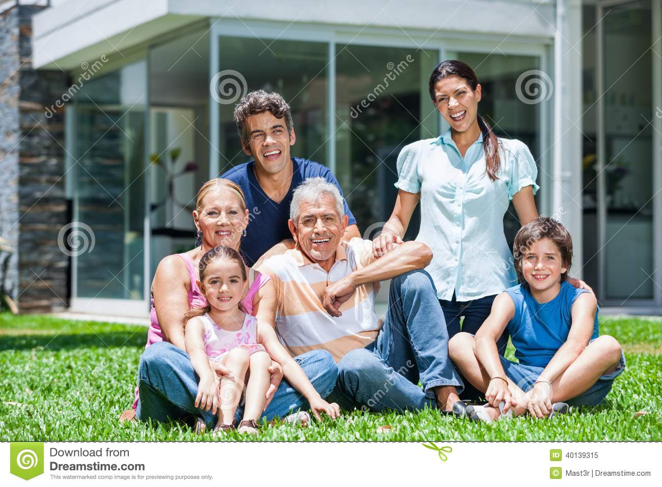 Family in big house stock image image of lawn estate for A family house
