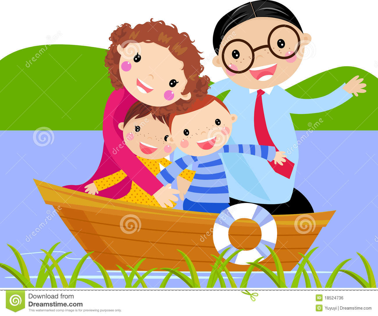 Family In Boat Royalty Free Stock Image - Image: 18524736