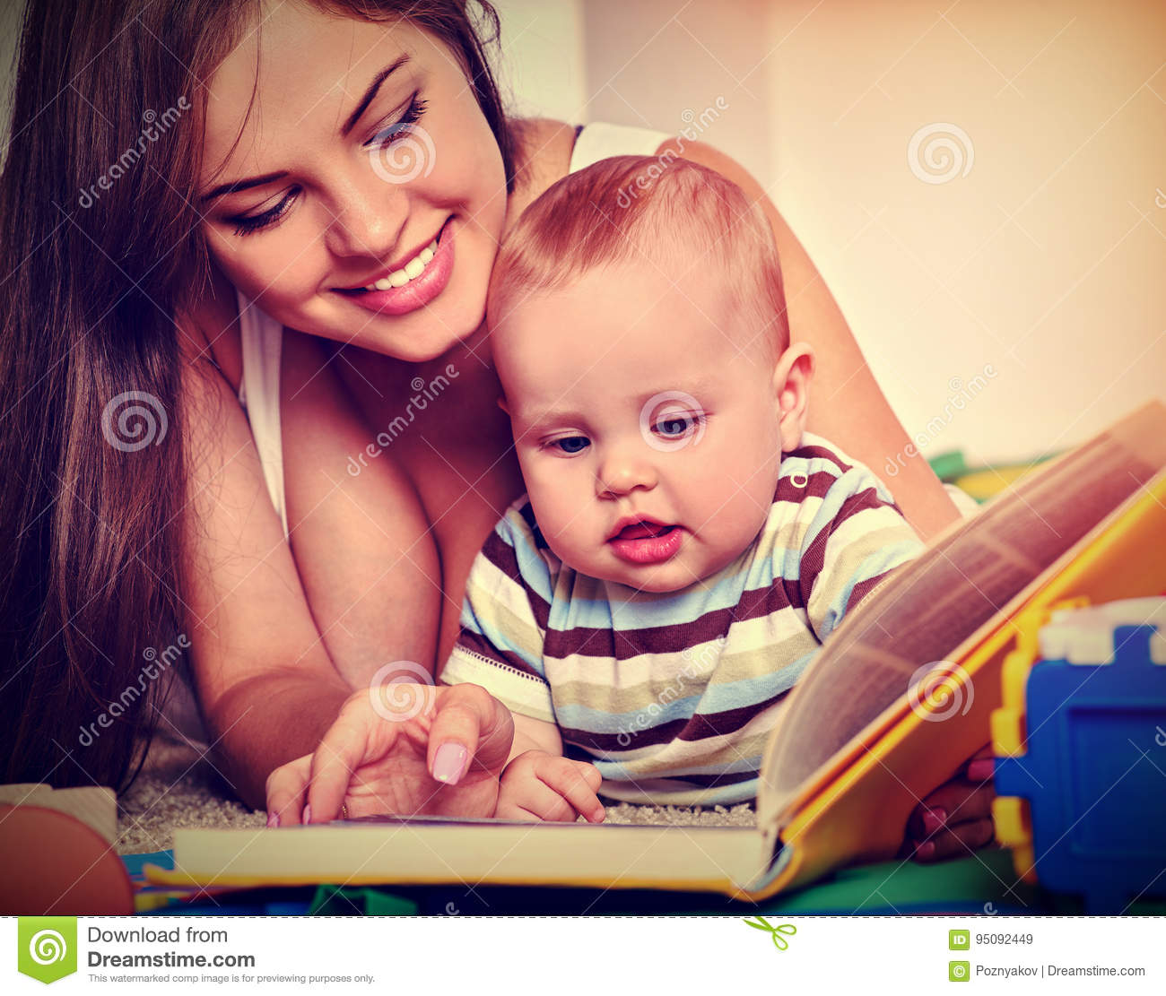 family book read with mother and baby early reading develops