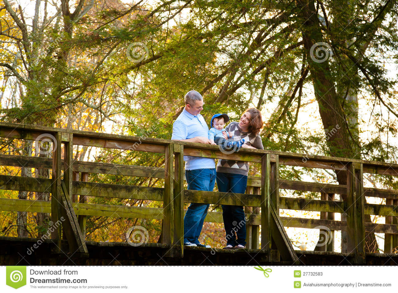 Family On A Bridge Stock Photos Image 27732583