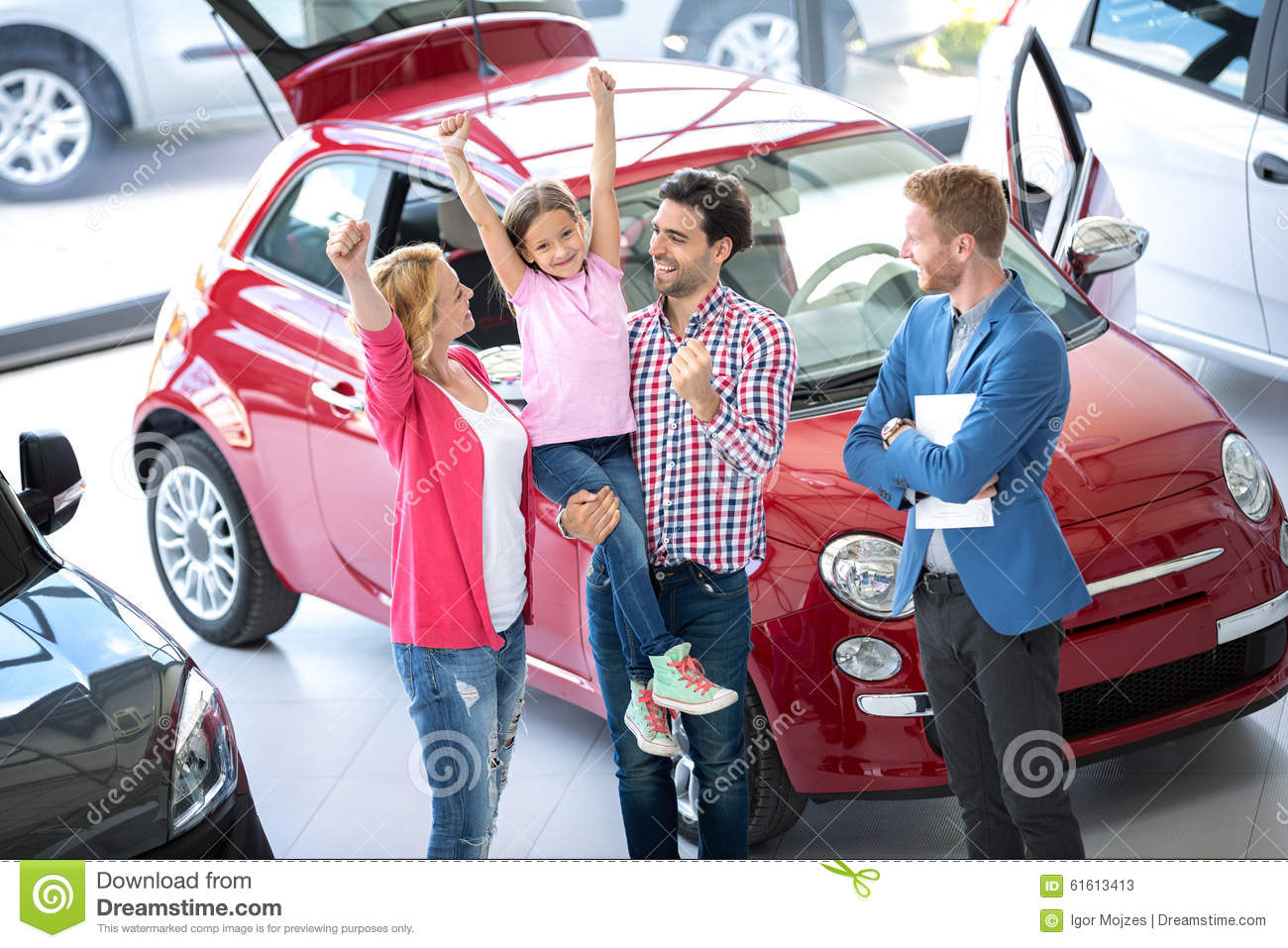 family buying a car stock image image of automobile 61613413. Black Bedroom Furniture Sets. Home Design Ideas