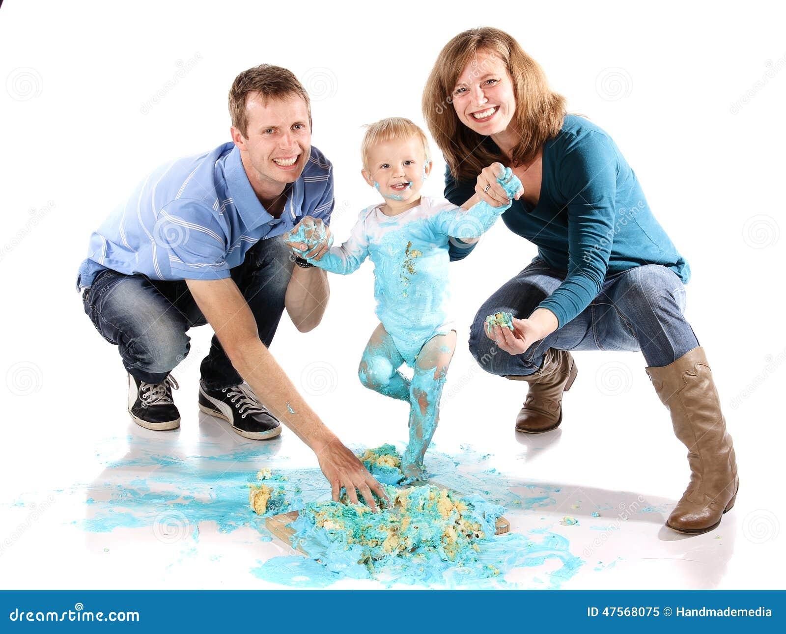 Smash Cake Stock Image