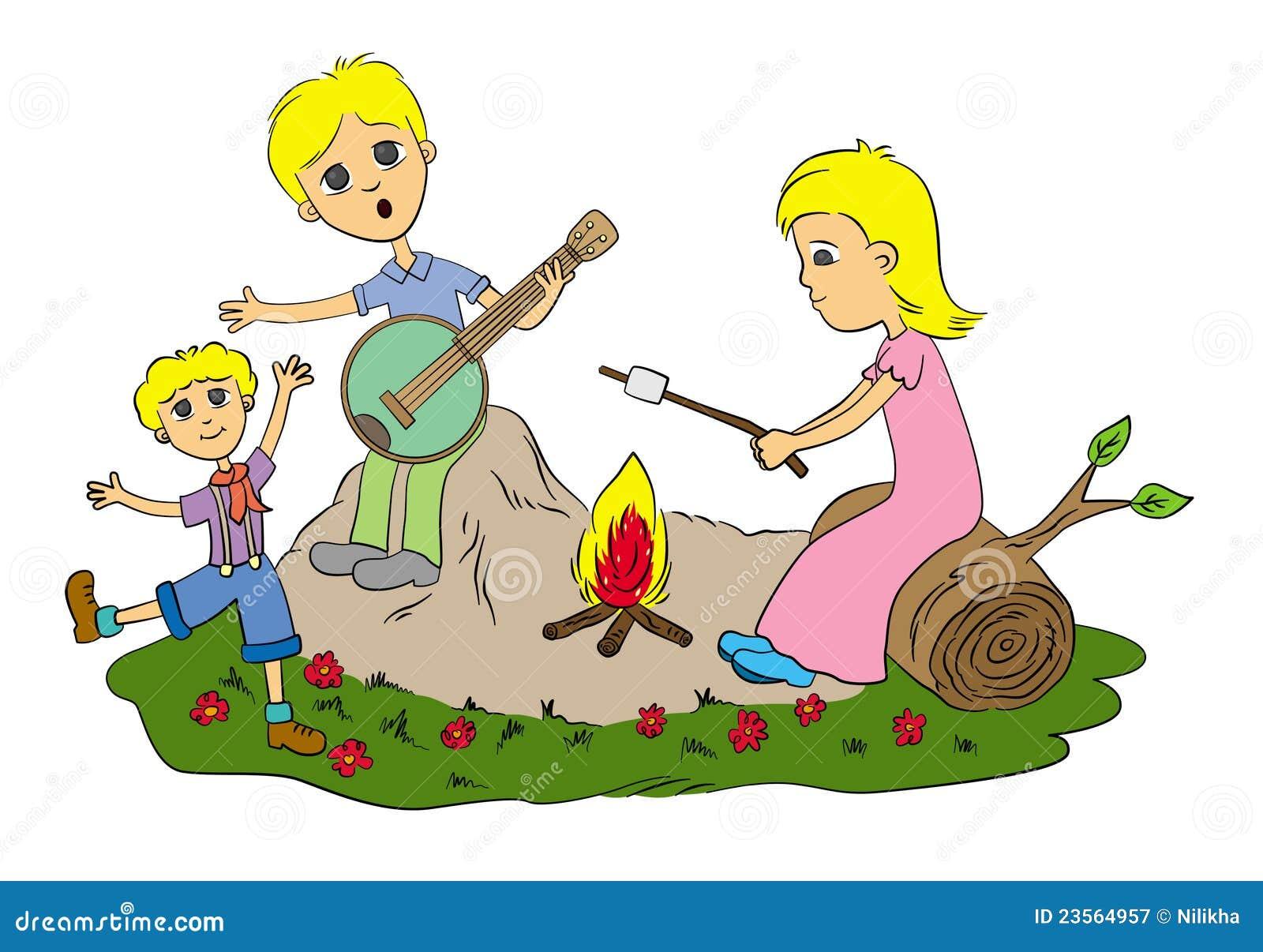 family camp fire 23564957 jpg
