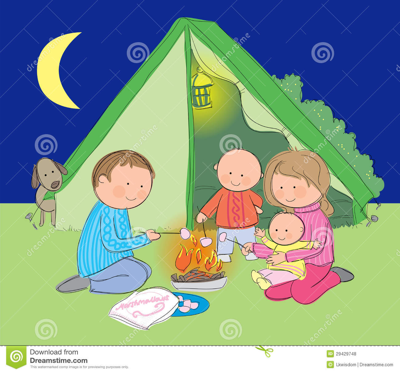 Family Camping Stock Vector Image Of People Campground