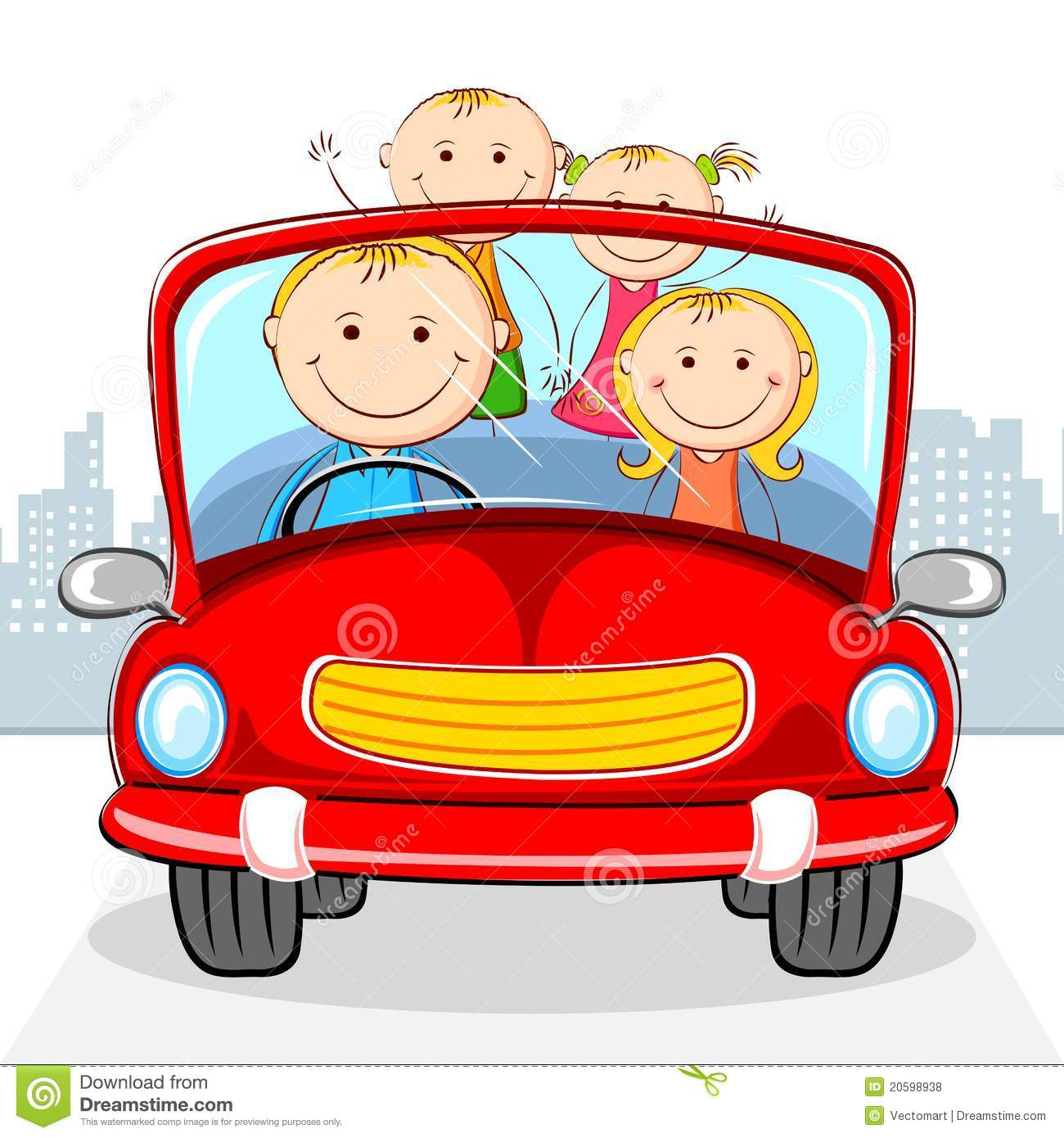 Family In Car Royalty Free Stock Photos Image 20598938