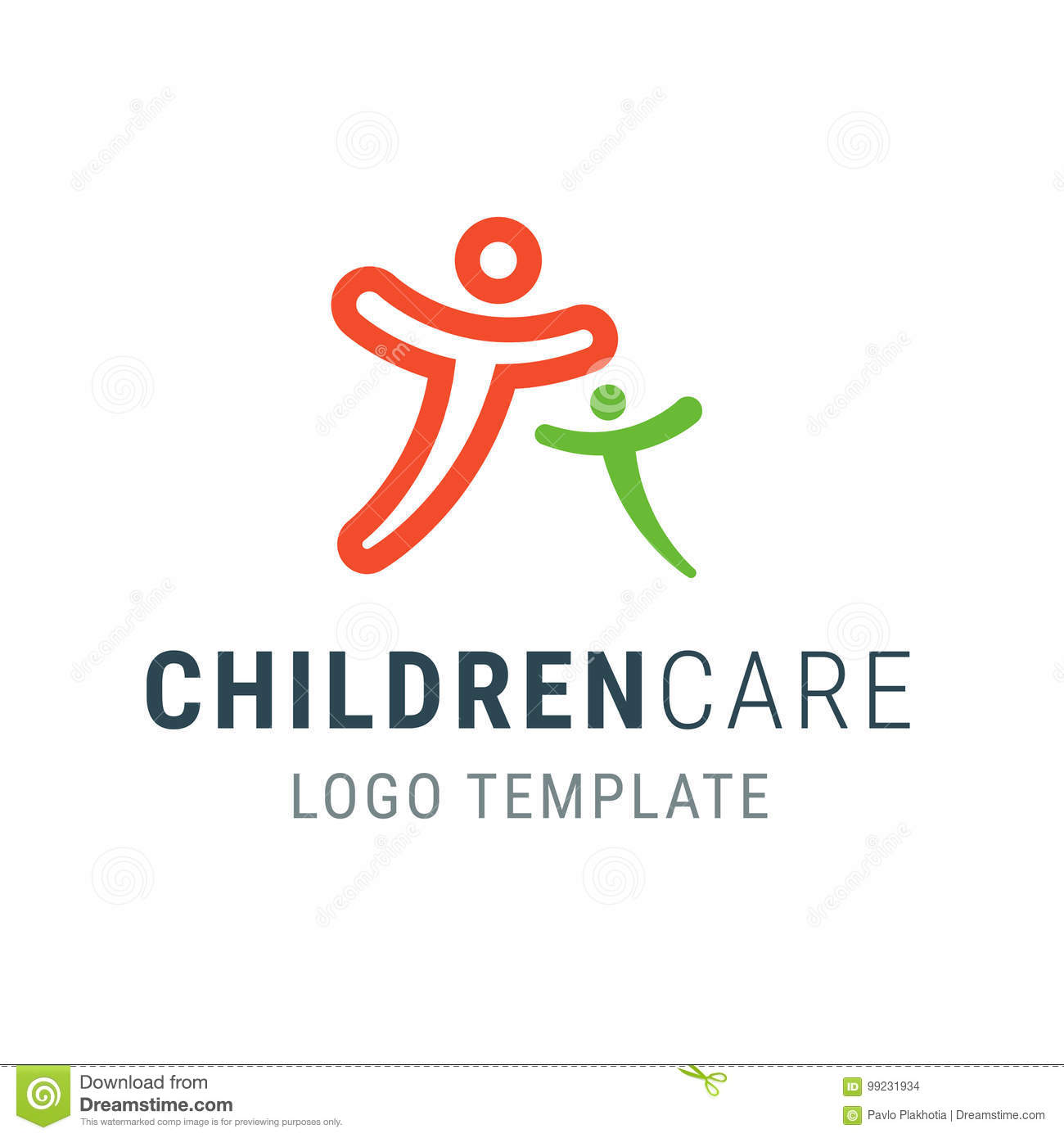 Children Care Logo People Logo Template Family Vector Symbol