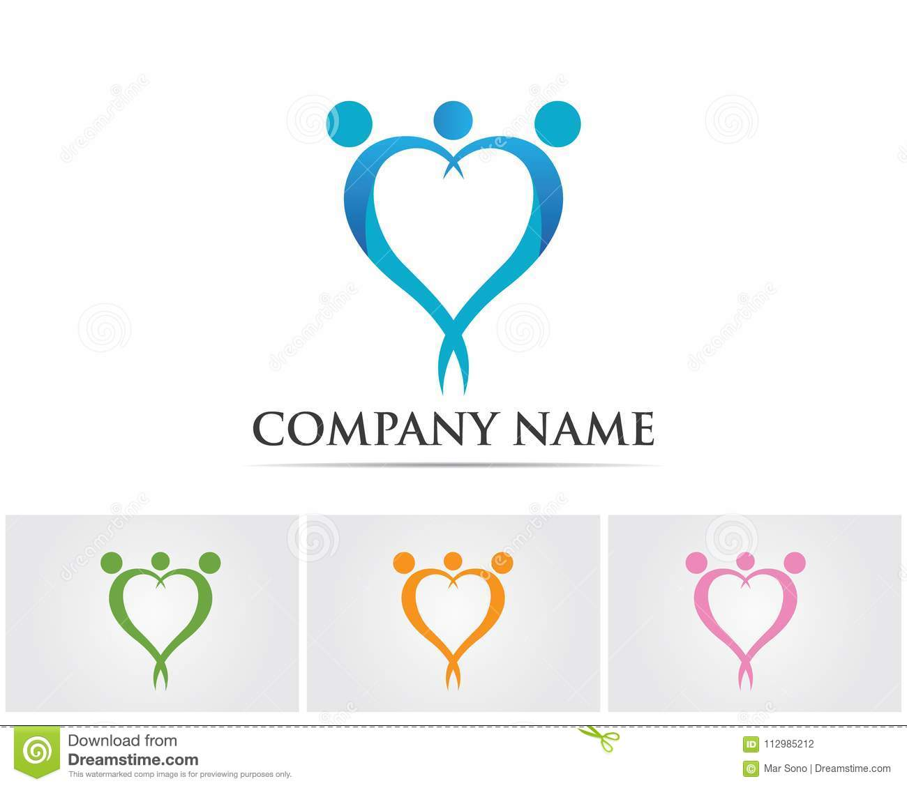 family care love logo and symbols template..