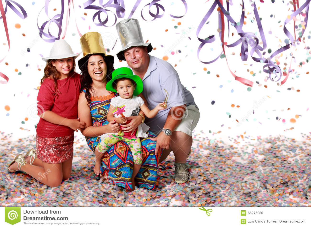 family and carnibal stock photo image of celebration 66276980