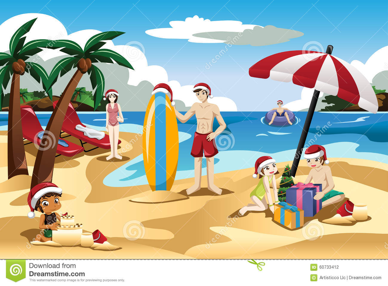 Family At The Beach Clipart | www.pixshark.com - Images ...