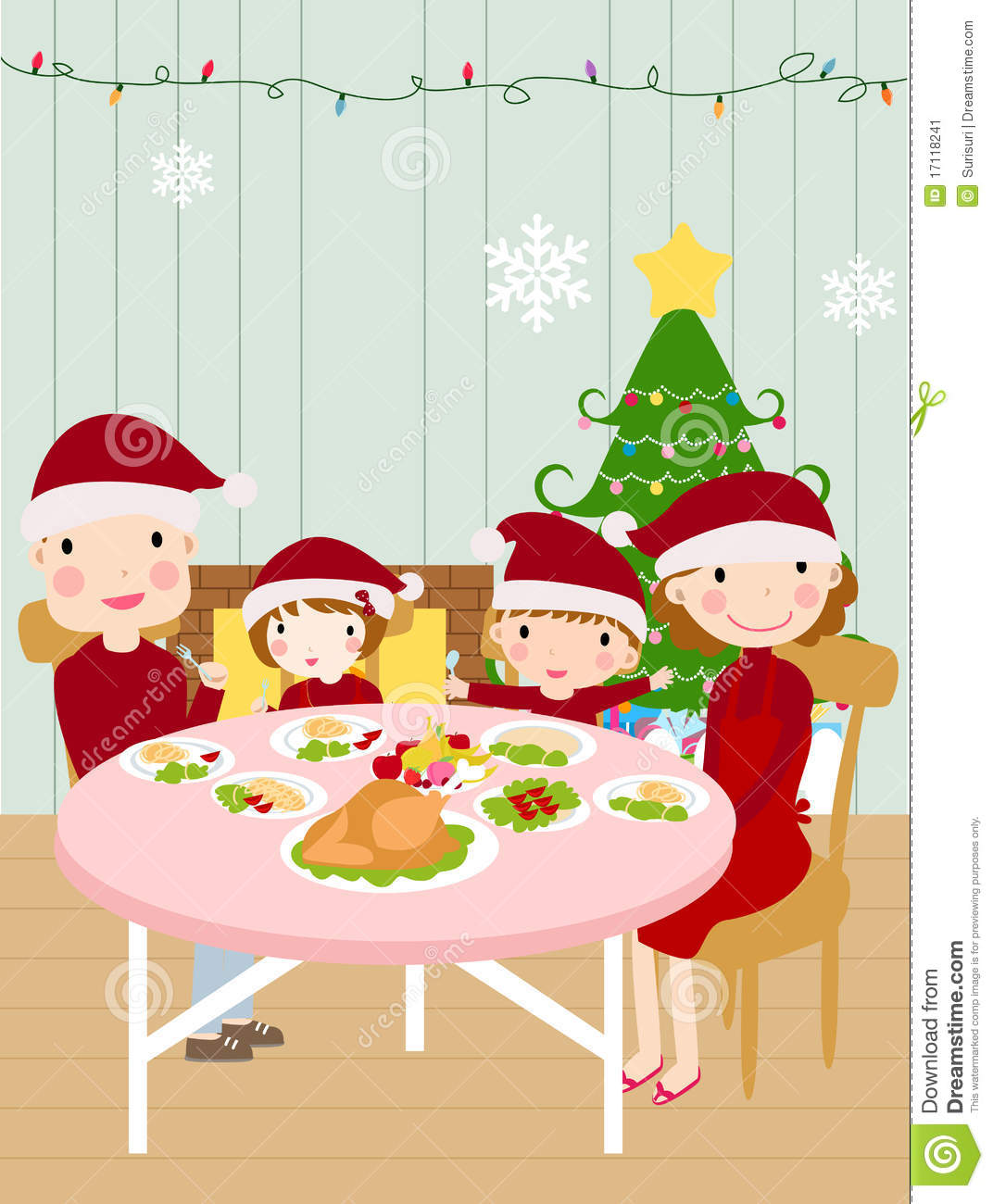 clipart christmas dinner pictures - photo #25