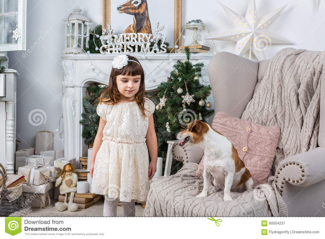 Family christmas stock photo image 60004237 for Home interior picture little girl