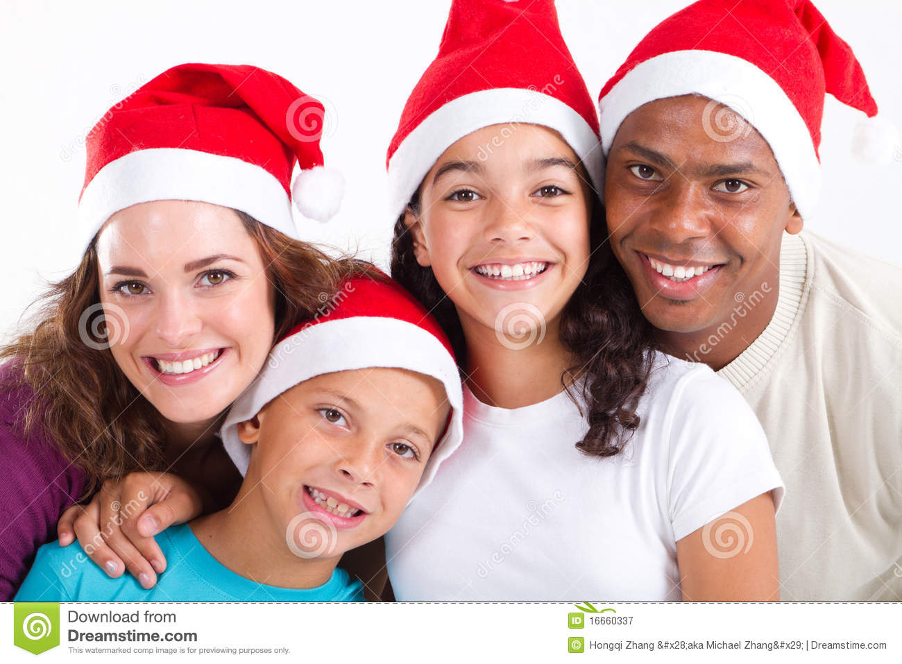 Family Christmas Photos Family Christmas Portrait Royalty Free Stock Photography Image
