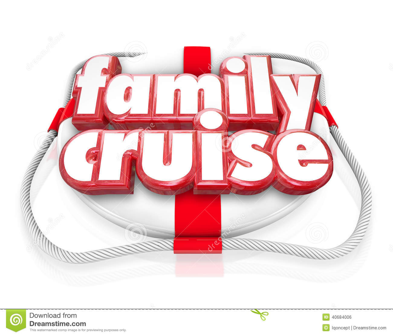 Family Cruise Boat Ride Vacation Holiday Together Life Preserver
