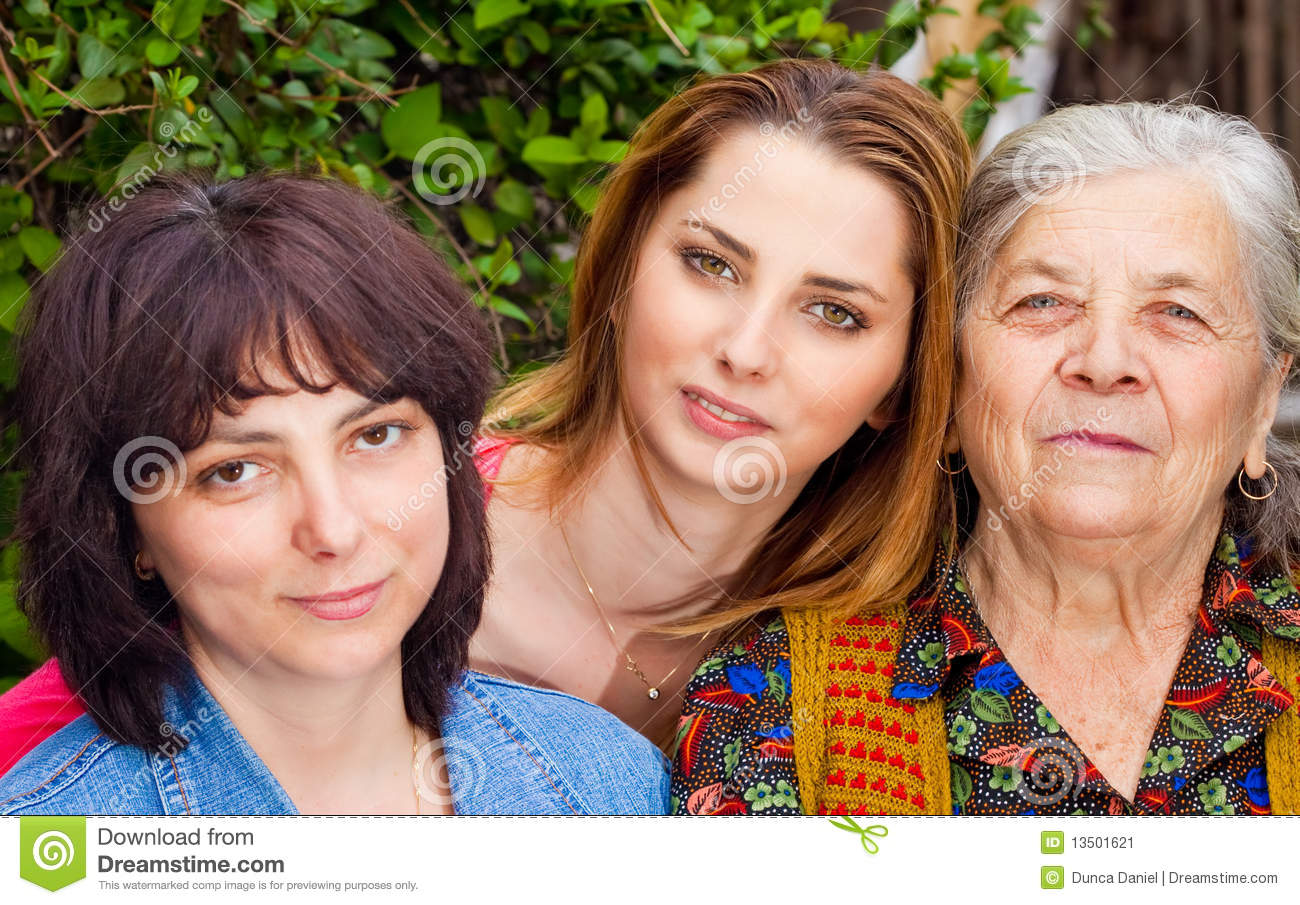 Family - daughter granddaughter and grandmother