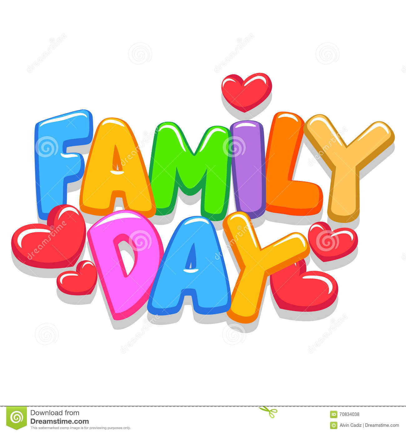Family Day 3d Letters stock vector. Illustration of design ...