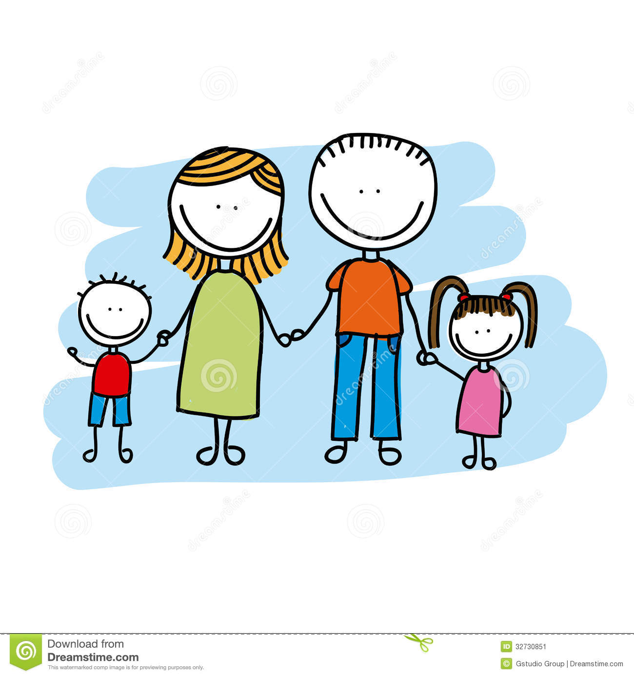 Family design stock vector illustration of expressing for Family picture design