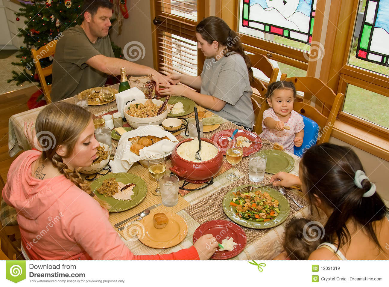 Family dinner table stock image image of development for Family diner